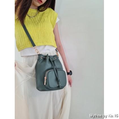 Luna Bucket Bag - Milk Green